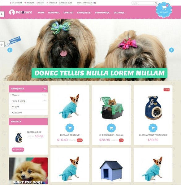 animal pets gift shop prestashop theme 70