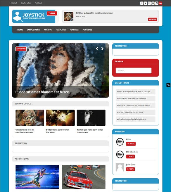 gaming wordpress website theme