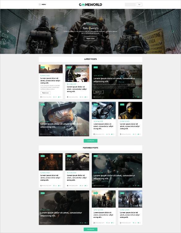 gameworld wordpress website theme
