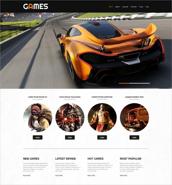 game portal responsive wordpress website theme