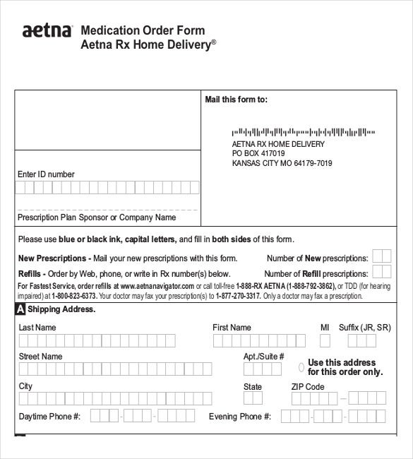20 Delivery Order Templates Free Sample Example Format – Shipping Form Template