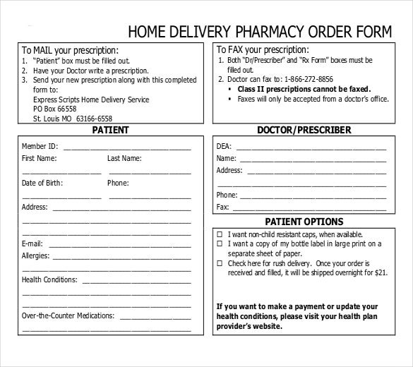 20 Delivery Order Templates Free Sample Example Format – Delivery Order Form Template