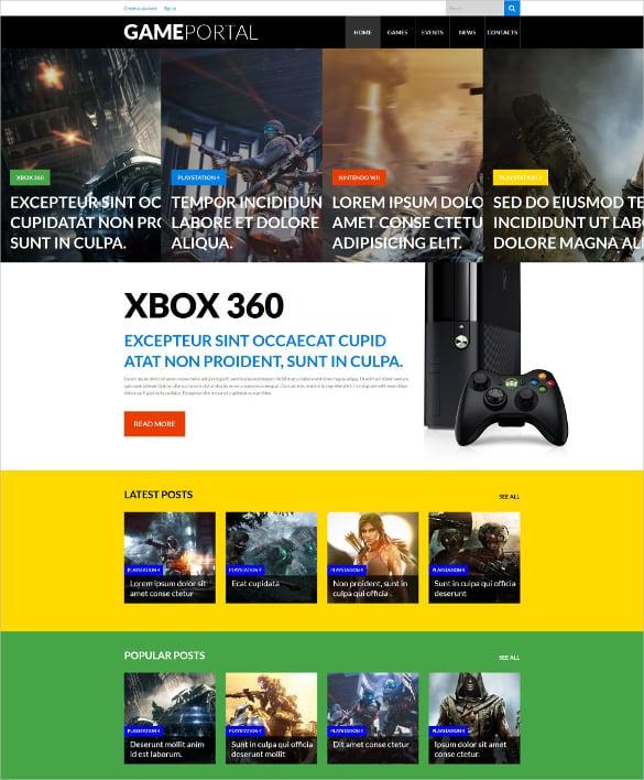 video gaming entertainment wordpress website theme