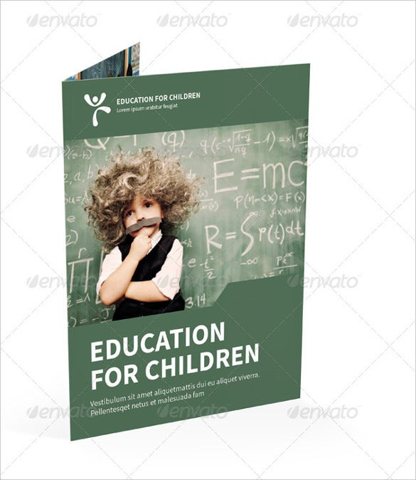 education bi fold brochure word template