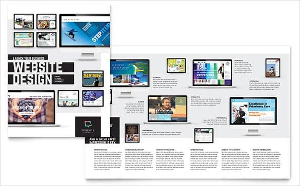 website designer bi fold brochure template in word