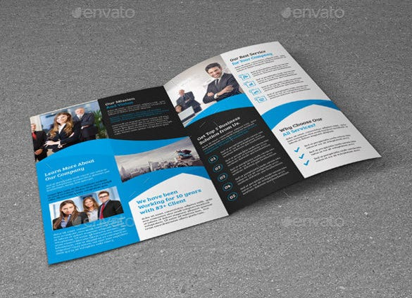 Corporate Bi Fold Brochure Word Template  Brochure Word Templates