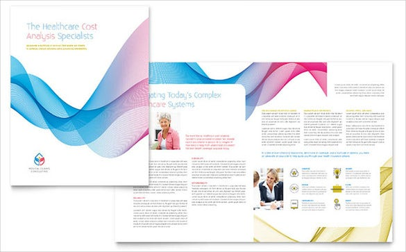 insurance consulting bi fold brochure template download
