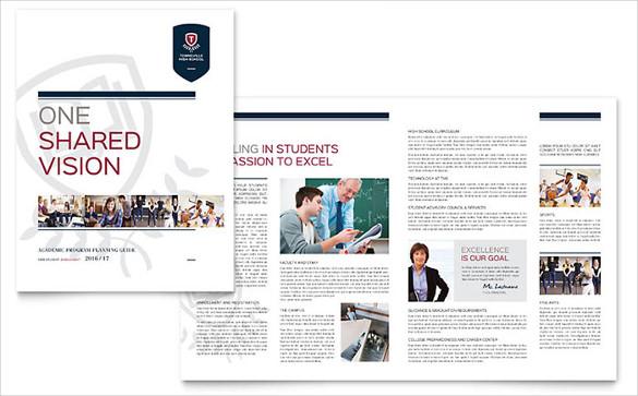 word format high school brochure template