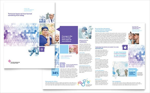 cancer treatment brochure template