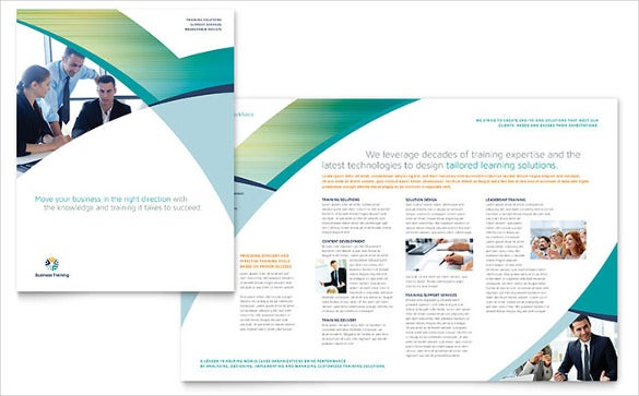 business training brochure template