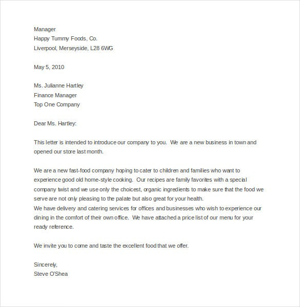 Company Business Letter Sample Business Closing Letter Sample
