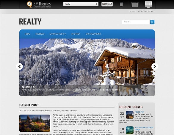elegant beautiful real estate wordpress theme