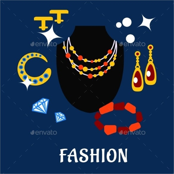 beautiful fashion and jewelry flat icons download