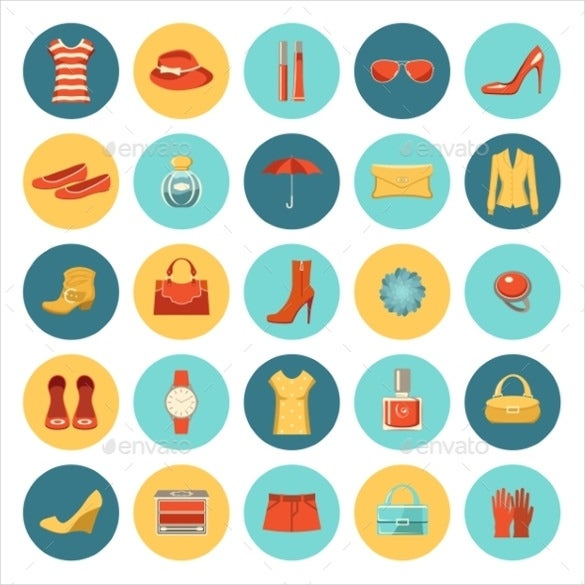 simple vector fashion icon download
