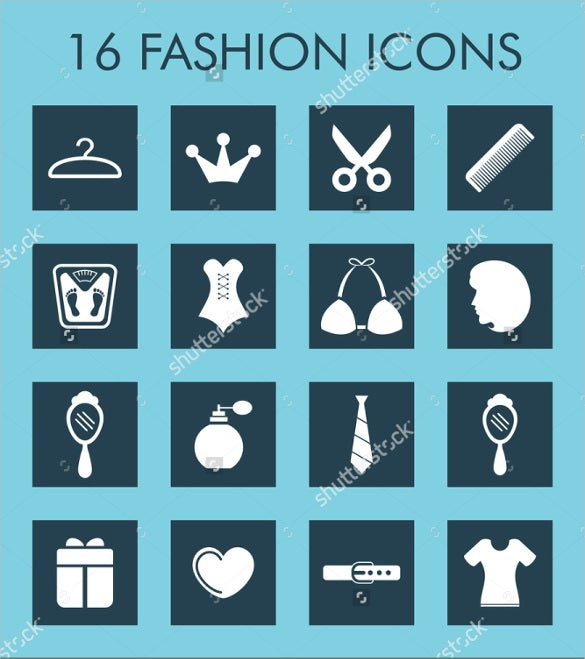 16 fashion icon set download