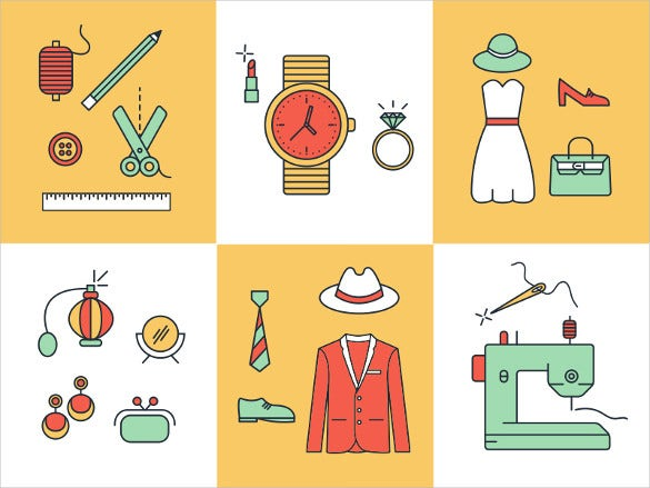 simple fashion icon set download