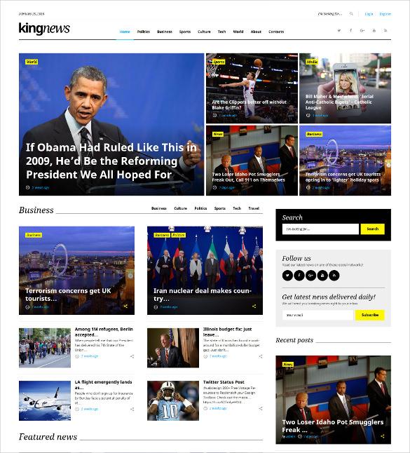 magazine newspaper blog wordpress theme
