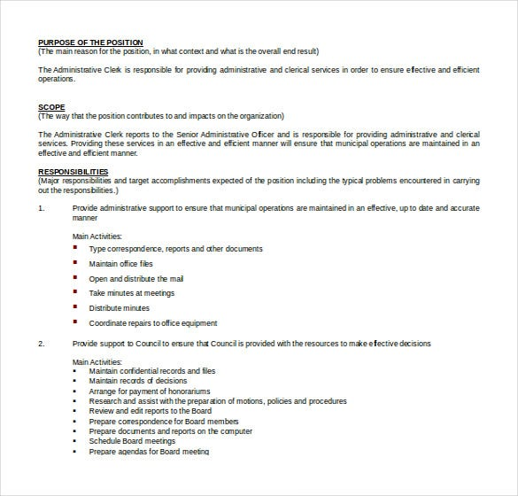 Word Administrative Assistant Resume Templates Free Download