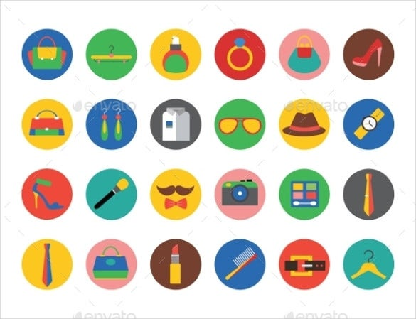 creative fashion vector icons set download