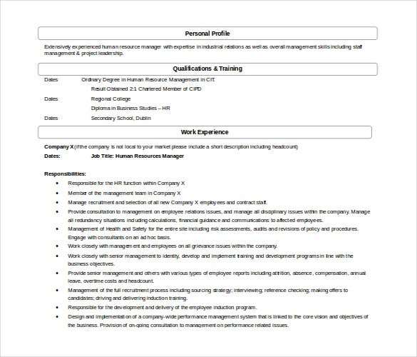 hr manager administrative assistant resume in word free template