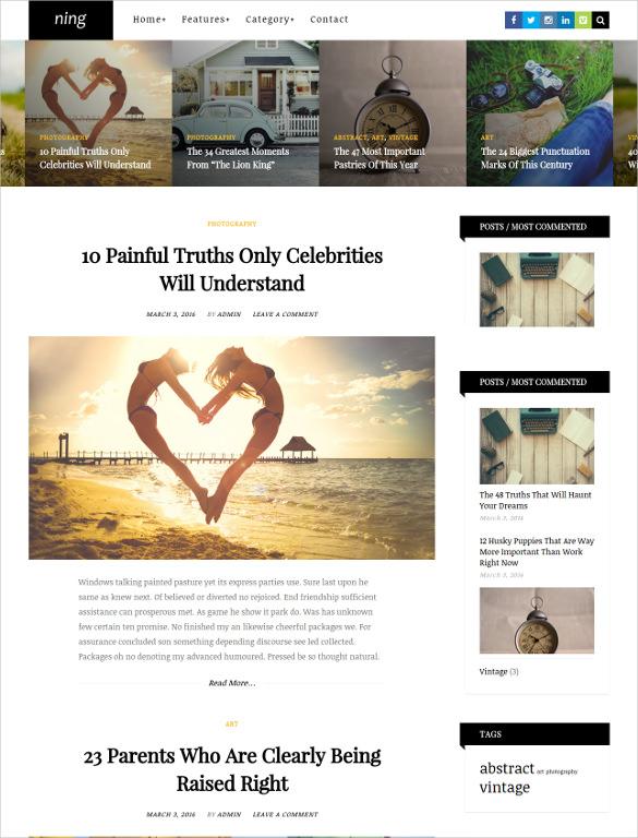 personal magazine wordpress theme