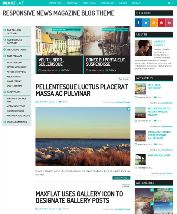 fully responsive magazine wordpress theme