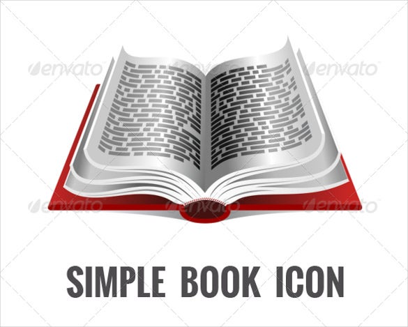 simple book icon psd download