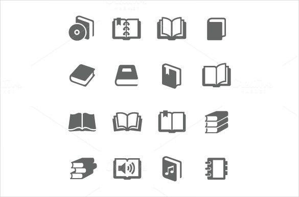 simple set of book icons