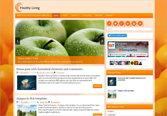 grocery store blog website template