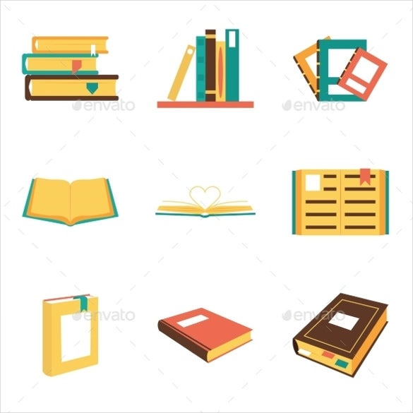 library book icon illusration download