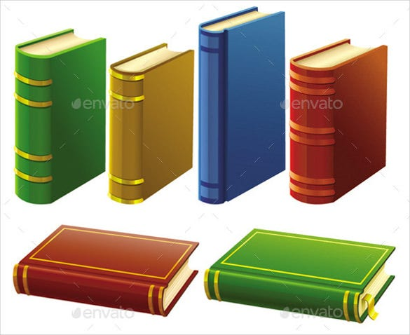 old book icon set vector download