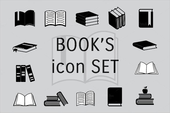 collection of book icon set
