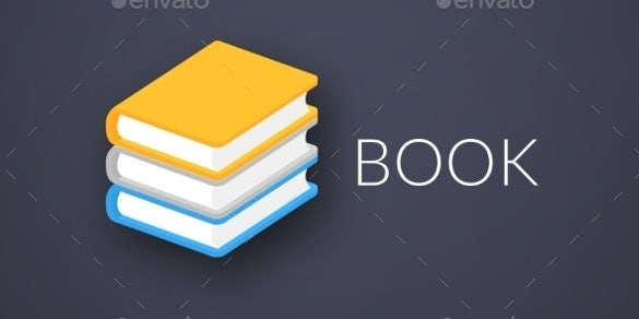 flat modern design book icons