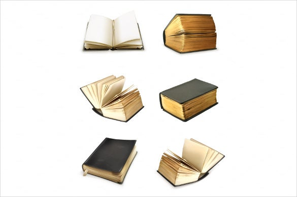 old books vector icons