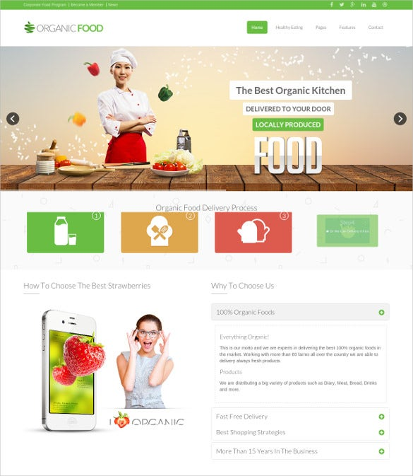 grocery store drupal website template