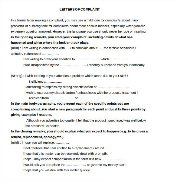 14+ Restaurant And Hotel Complaint Letter Templates – Free Sample