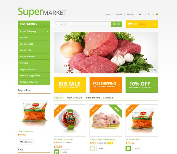 31+ Grocery Store Website Themes & Templates | Free & Premium