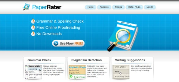 paperrater free plagiarism tool