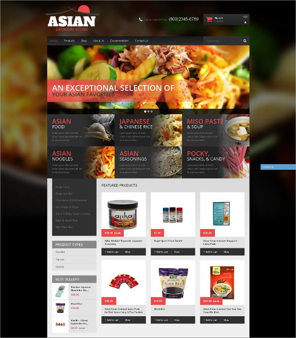 grocery store products shopify bootstrap theme