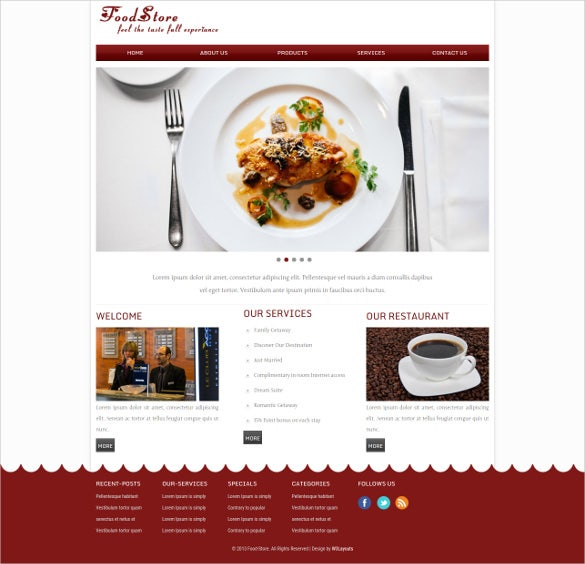 grocery store web mobile website template