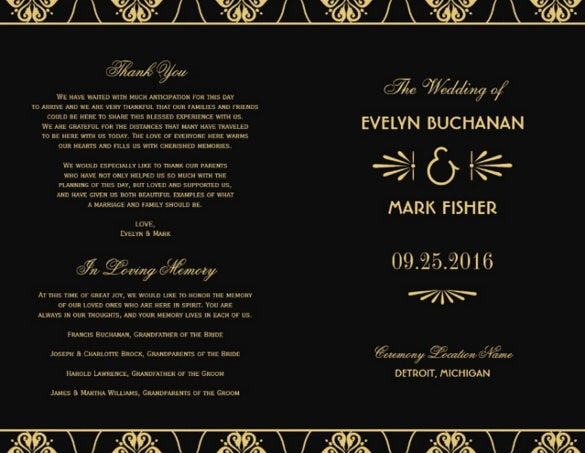black background wedding cermony template download