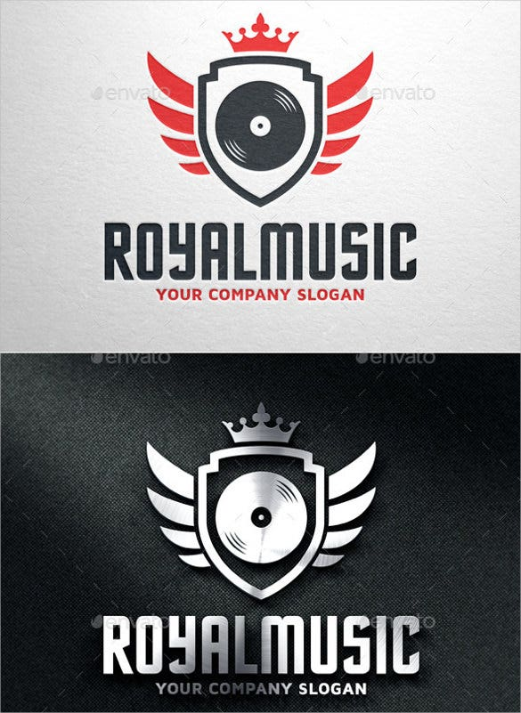 royal music logo psd template download