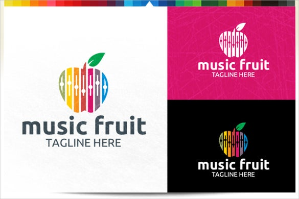 modern music fruit logo download