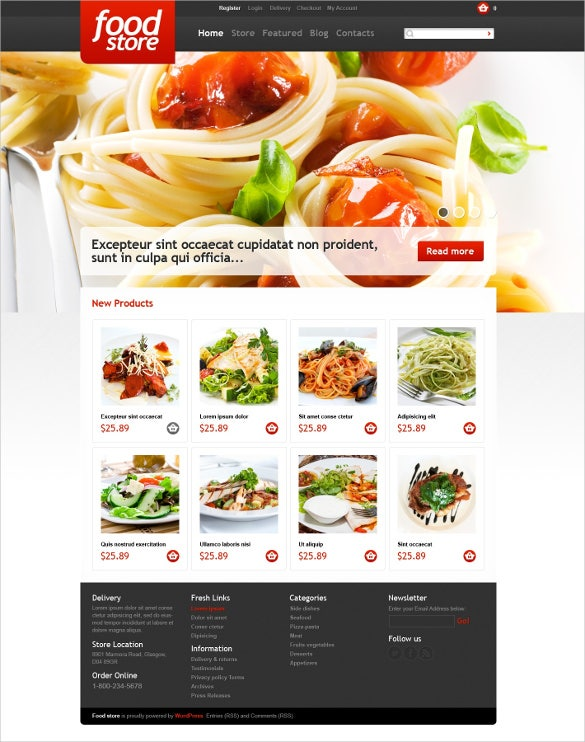 grocery store website themes templates free premium templ