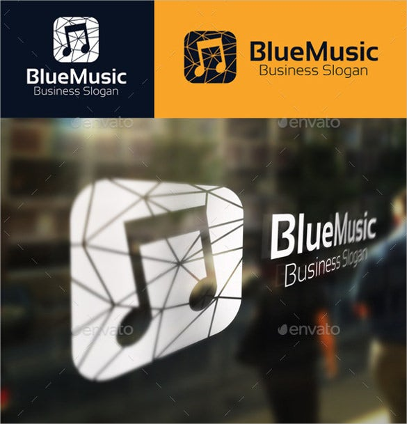simple blue music logo download