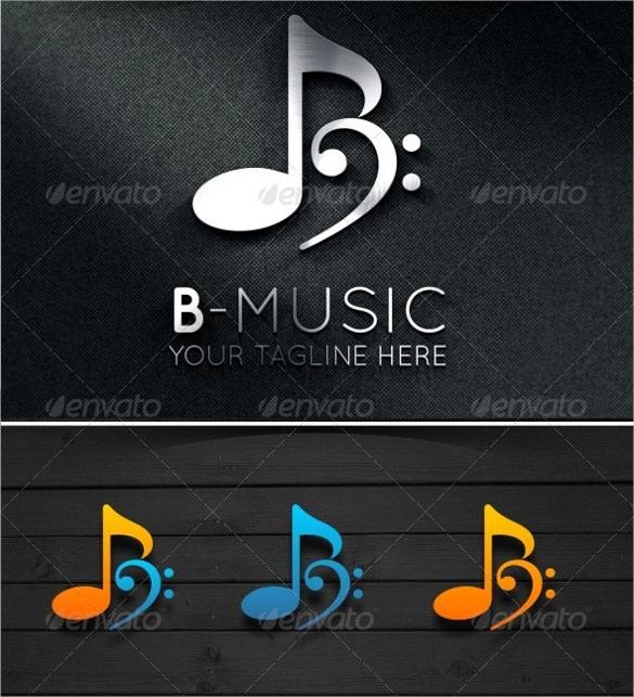 stylized music logo download