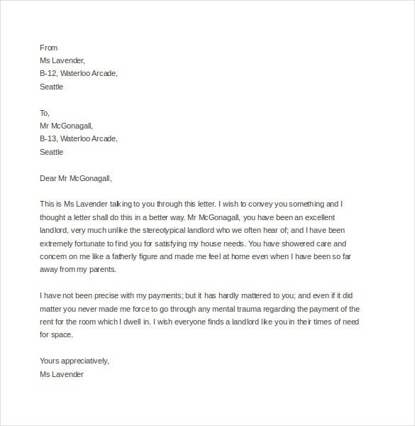 tenant complaint letter to owner sample