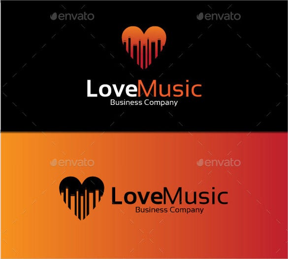 beautiful love music logo download