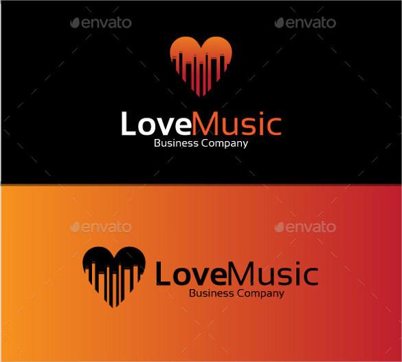beautiful love music logo download