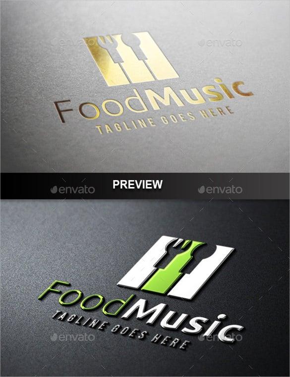 stunning food music logo download